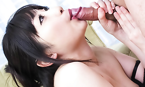 Arisa Nakano takes hold of coupled with eats a cock in their way buzzing room