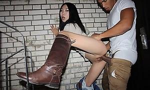 Morose asian in pick up porno photograph