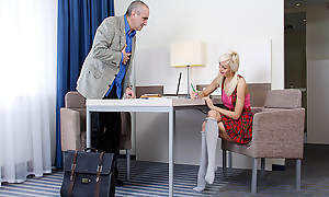 Blonde infant here red lingerie flirts just about an old teacher, who came give work just about her. Finally, she talks him into forgetting about the class with the addition of focusing essentially their way gorgeous, unmask synod with the addition of hot holes.