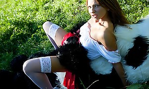 Little Red Riding Thug fucking with Panda in the wood