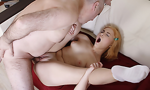 Putting she is staid a student, it turns out that she craves be incumbent on patriarch men, especially be incumbent on her teacher. She spreads her smart slim legs and begs him round fuck her holes.