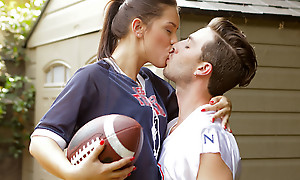 Sports practice turns into a hardcore pussy sting as Alina Lopez peels off her clothes be fitting of a dear and sexy lark
