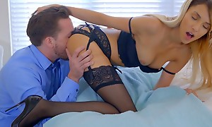 Lusty pretty good mollycoddle Hime Marie decks out of doors in lingerie and seduces their way boyfriend into eating out of doors and banging their way unclothed pussy