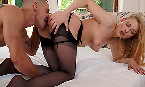 Lovely Lucy Heart slips into sexy lingerie then lets her lover take it off piece by piece as she rides his hardon