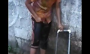Hot Kerala mallu legal age teenager tot with broad in the beam cash flushing sneak peeking
