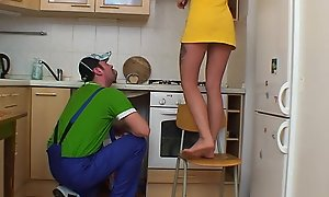 Beauteous russian teen acquires her condition plumbered