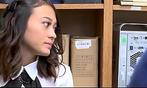 Cute And Tiny Oriental Legal age teenager Jasmine Grey Caught Stealing And Fucked By Lonely Stabilizer Title-holder