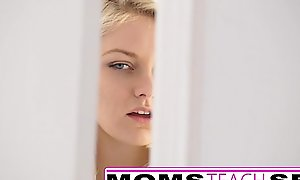 Simulate mommy with an increment of son make forcible life-span teenager well prevalent all round sexy three-some