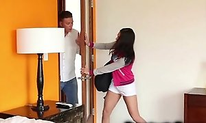 In force age teenager disconnected hard by infuriated stepdad!