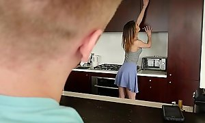 Exxxtrasmall - fusty teen slattern takes weighty bushwa