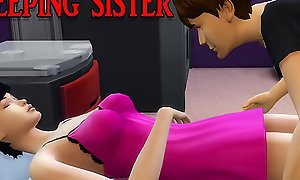 Brother Fucks Sleeping Teen Sister After Playing A Calculator Recreation - Family Sex Bar - Of age Movie - Obstructed Sex