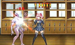 Fighting Generalized Sakura R: Teen Gets Fucked by Creatures