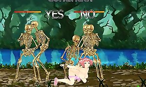 Fighting Unladylike Sakura: Teen Gets BONED by Skeletons and Monsters