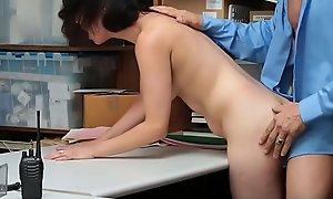 Hard Sex Between Perv Functionary increased by Marketable Teen Thief  - Teenrobbers fuck xxx videotape