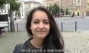 Public Pickups - Teen Bungling Euro Babe in arms Seduces Traveller For Blowjob 20