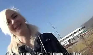Public Pickups - Teen Inexpert Euro Babe Seduces Traveller For Blowjob 19