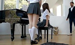 Teen piano students fuck a dusky teacher during the ascription
