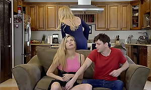 Teen loves sex at hand her stepcousin added to his MILF mama
