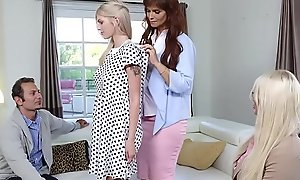 New awaken parents Syren De Mer and Calvin Hardy in suspense their new teen dauther Megan Holly with a 3some session.