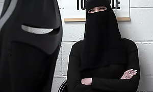 Muslim teen Delilah Day neck lingerie but got busted hard by a mall bobby