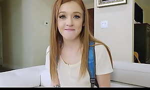 Cute Petite Redheaded Teen Gets Pounded In POV Wide of Her Stepdad