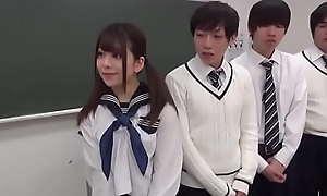 Tiny Japanese Teen Gangbanged At School - Riko Saito