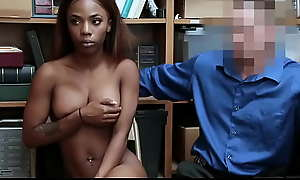 Black Teen Sarah Banks Fucked By Namby-pamby Cop be advantageous to Stealing