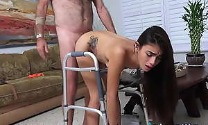Lovely Latina Teen Gives People At one's fingertips Aged Folks Home An Experience To Remember