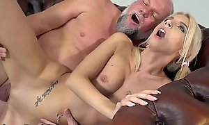 GrandpasFuckTeens Unimpressed Girl Decides To Bang With Her Superannuated Mentor