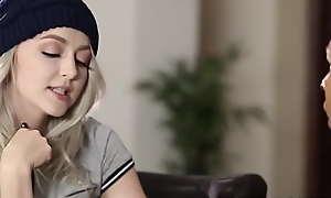 Blonde teen gets facial after riding