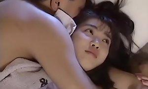 Downcast Japanese teen shacking up