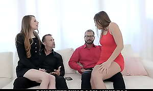 Sex-mad Teen Retinue Try Butt Plugs Coupled with Anal With Stepads