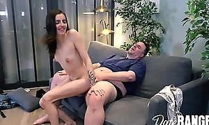 Analized: FRENCH Infinitesimal BISCUIT gets TENNIS RACKET plus DICK in HER Arse - DATERANGERXXX integument