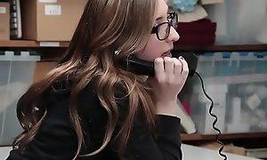 Teenage youthful offender in glasses filmed