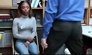 Jet-black Teen Banged For Shoplifting