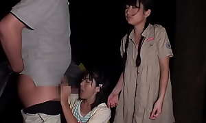 2 Petite Japanese Teens Fucked By Scout Bosomy On Camping Trip