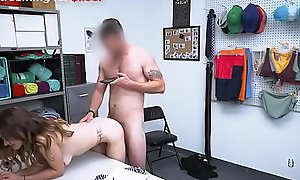 Pervert Guard Misbehaves with Cute Shoplifter Teen After Caughts Her - Shea Blaze - Teenrobbers porn video