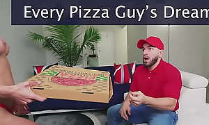 BANGBROS - Peter Green Delivers Pizza Encircling Co-conspirator Sausage To Tow-haired Teen Macy Meadows