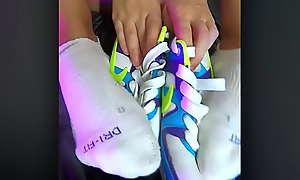 Nike Air foot amulet by hot skinny teens girl