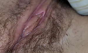 Teen left-wing unshaved bedraggled pussy closeup 4k