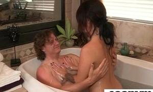 Gorgous teen gives a despondent massage 19