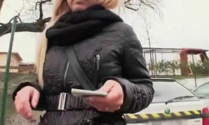 Czech Sexy Girls Pompously Pussy For Euro In Public 10