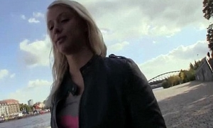 Czech Sexy Girls Giving Pussy Be worthwhile for Euro In Public 24