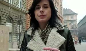 Czech girls paid for public sex with obloquy strangers 11