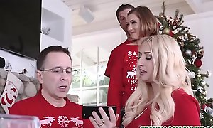 Cute And Secret Teen Step Sister Riley Mae And Her Step Brother Fianc� During Family Christmas Photo