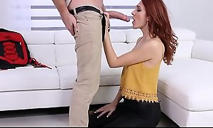 Cute Teen Red Head Fucked By New Assignment