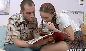 Studying coupled nearby fucking is simple nearby a hot, teen ally
