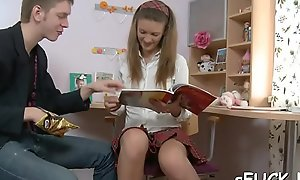 Unnerved teen bitch decided to be hung up on her friend for studying