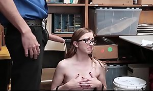 Cute And Nerdy Teen Shoplifter Gracie May Green Fucked At the end of one's tether Security Guard For Stealing A Hustle off