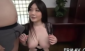 Cute japanese only gives magnificent enunciated at near threesome